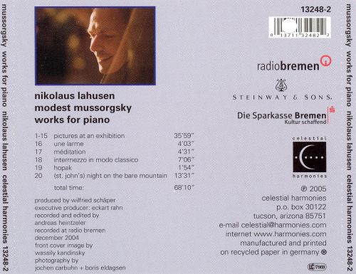 Mussorgsky: Pictures at an Exhibition; St. John's Night on the Bare Mountain