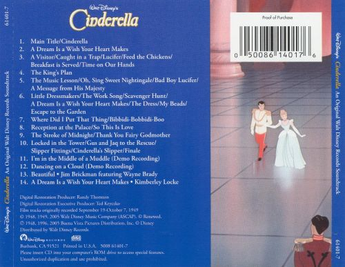 Cinderella [1950] [Original Motion Picture Soundtrack]