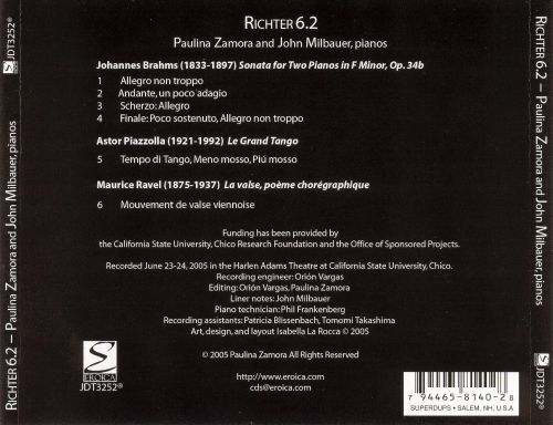 Richter 6.2: Works by Brahms, Pizzolla