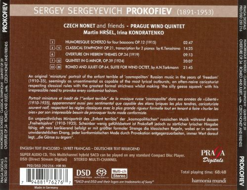 Prokofiev: Humoresque Scherzo; Classical Symphony; Overture on Hebrew Themes