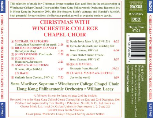 Christmas with the Winchester College Chapel Choir