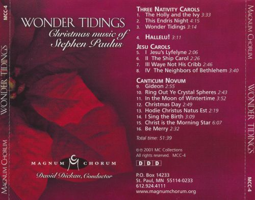 Wonder Tidings: Christmas music of Stephen Paulus