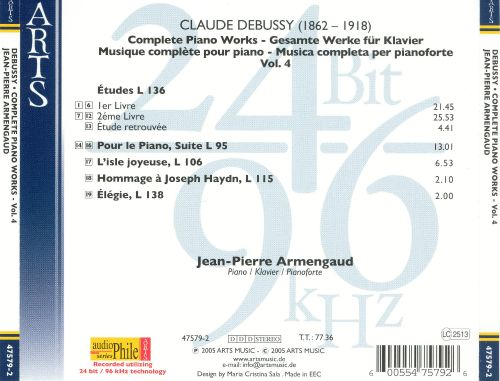 Debussy: Piano Works, Vol. 4