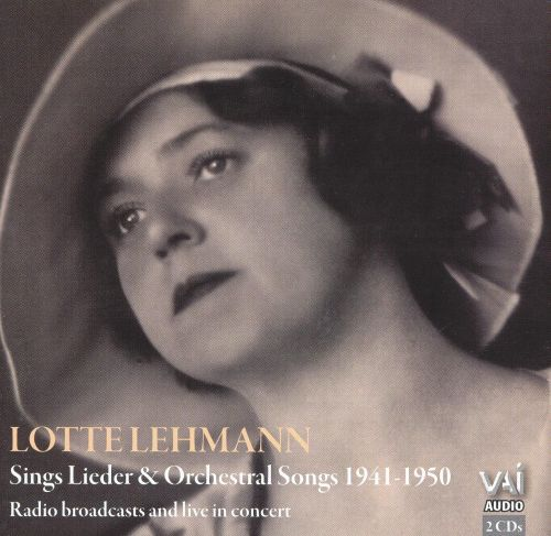 Lotte Lehmann Sings Lieder & Orchestral Songs, 1941-1950