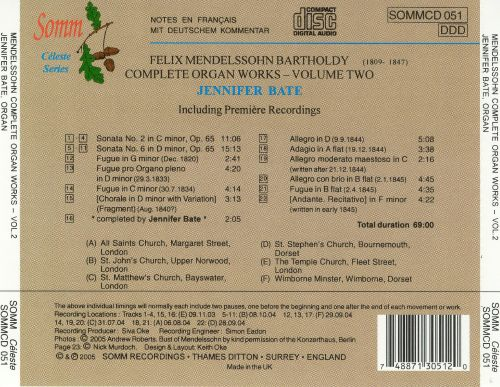 Mendelssohn: Complete Organ Works, Vol. 2