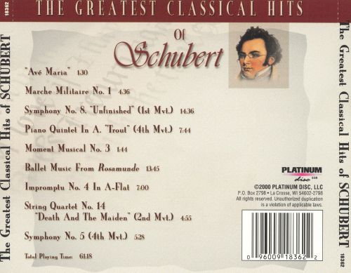 The Greatest Classical Hits of Schubert