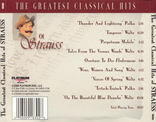 The Greatest Classical Hits of Strauss