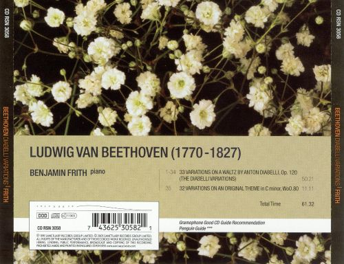 Beethoven: Diabelli Variations; 32 Variations on an Original theme in C minor