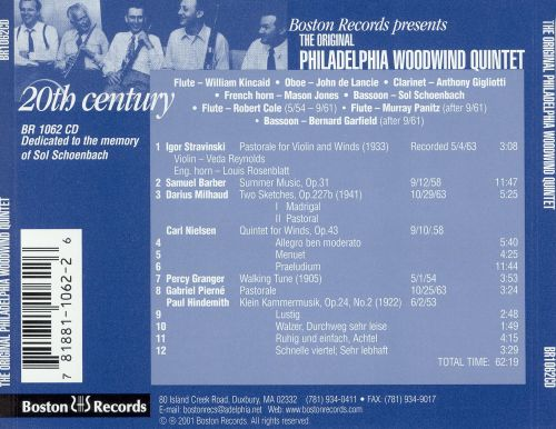 The Original Philadelphia Woodwind Quintet: 20th Century