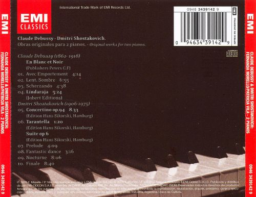 Music for 2 Pianos by Debussy & Shostakovich