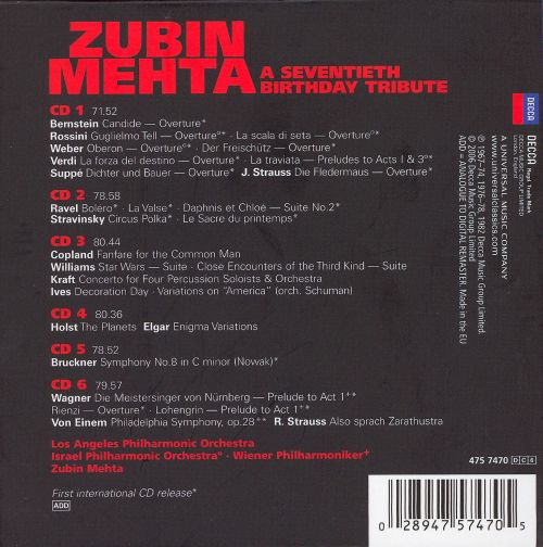 zubin mehta a seventieth birthday tribute box set zubin mehta