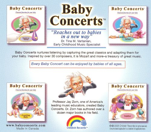 Baby Concerts Deluxe Gift Set: Prenatal and Newborn, Infant, Crawl [4 CD]