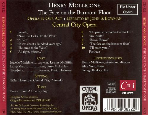 Elegant ... Henry Mollicone: The Face On The Barroom Floor