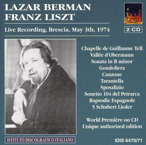 Lazar Berman plays Franz Liszt