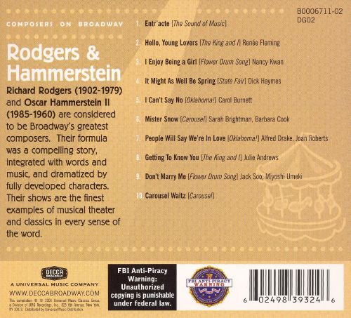 Composers on Broadway: Rodgers & Hammerstein