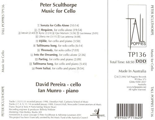 Sculthorpe: Music for Cello