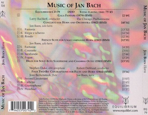 Music of Jan Bach