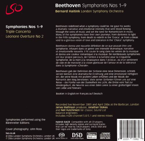 Beethoven: Symphonies Nos. 1-9 [Special Edition]