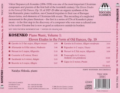 Viktor Stepanovych Kosenko: Eleven Etudes in the Form of Old ...