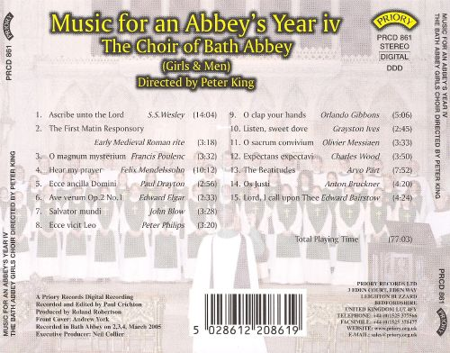 Music for an Abbey's Year, Vol. 4