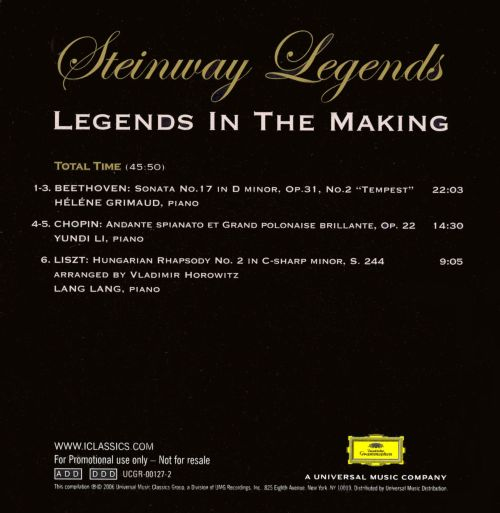 Steinway Legends: Legends in the Making