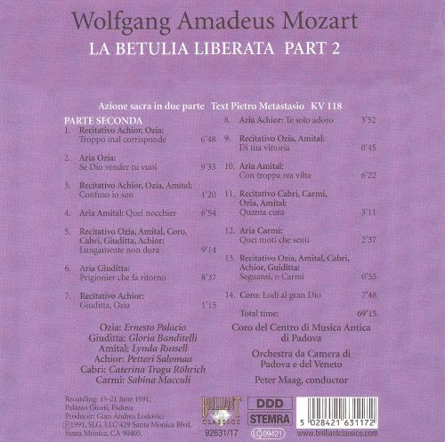 Mozart: Complete Works, Vol. 7 - Sacred Works, Disc 17
