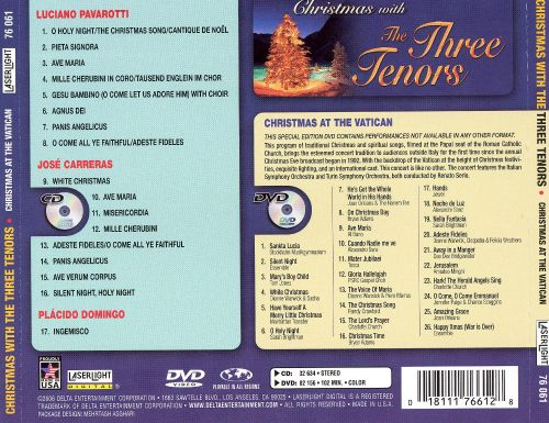 Christmas with The Three Tenors [CD + DVD] - The Three Tenors ...