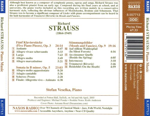 Richard Strauss: Piano Music
