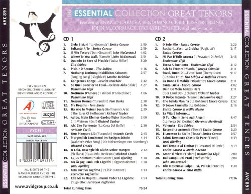 The Essential Collection: Great Tenors