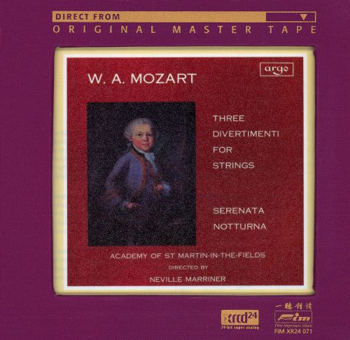 Mozart: 3 Divertimenti for Strings; Serenata Notturna