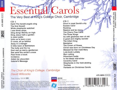 cambridge essential carols the very best of kings college choir cambridge