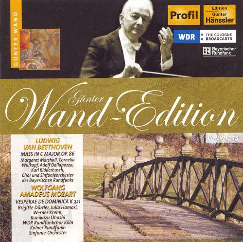 Günter Wand-Edition, Vol. 14 (Beethoven: Mass, Op. 86; Mozart: Vesperae de Dominica, K. 321)