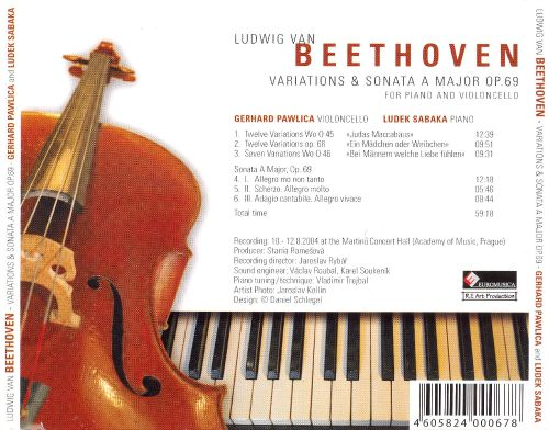 Beethoven: Variations & Sonata A major for Piano and Violoncello