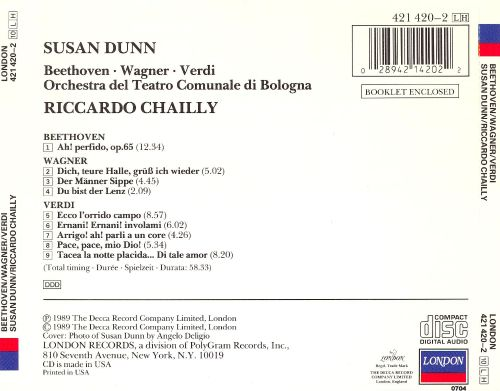 Susan Dunn performs Verdi, Beethoven and Wagner