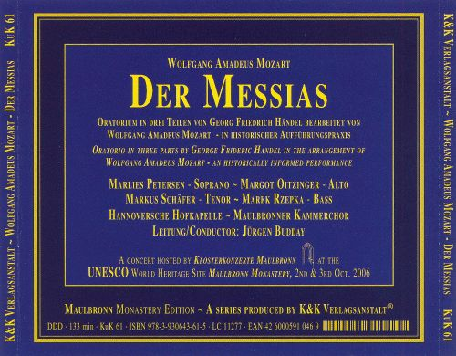 Mozart: Der Messias [2006 Recording]