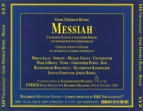 Händel: Messiah [2005 Recording]