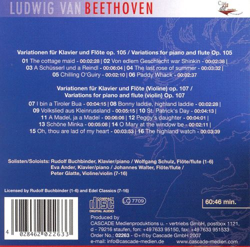 Beethoven: Complete Works, Vol. 63