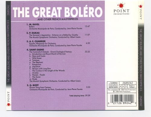 The Great Boléro and Other French Masterpieces