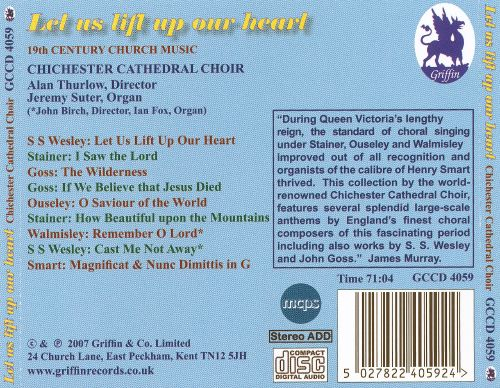 Let Us Lift Up Our Heart: 19th Century Church Music