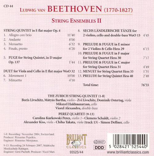 Beethoven: String Ensembles 2