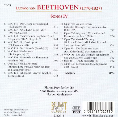 Beethoven: Songs 4