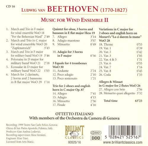 Beethoven: Music For Wind Ensemble 2