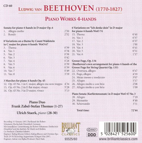 Beethoven: Piano Works 4-Hands