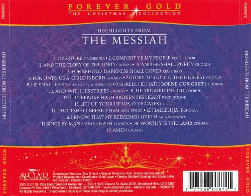 Forever Gold - The Christmas Collection: Highlights from the Messiah