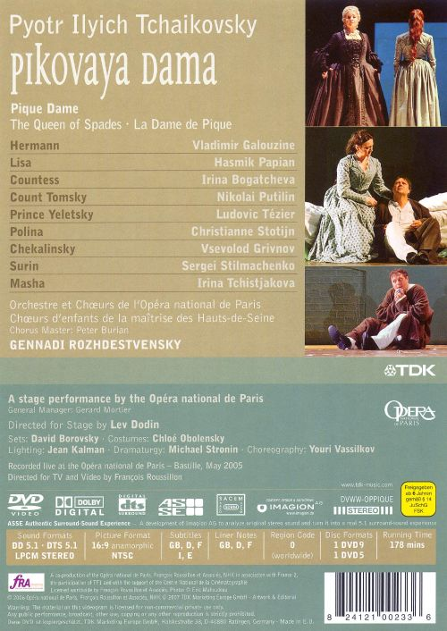 Tchaikovsky: Pique Dame [DVD Video]