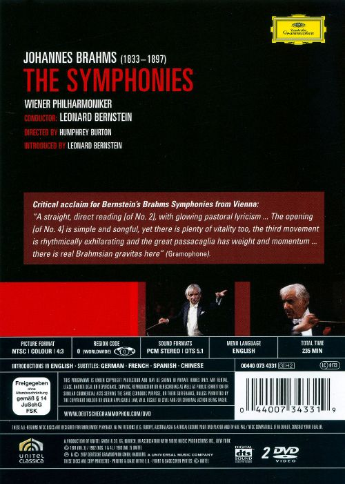 Brahms: The Symphonies [DVD Video]