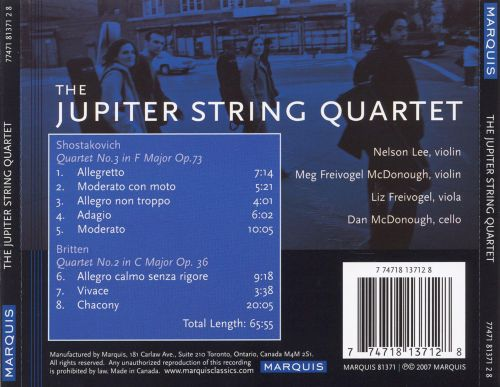 Shostakovich: Quartet No. 3; Britten: Quartet No. 2