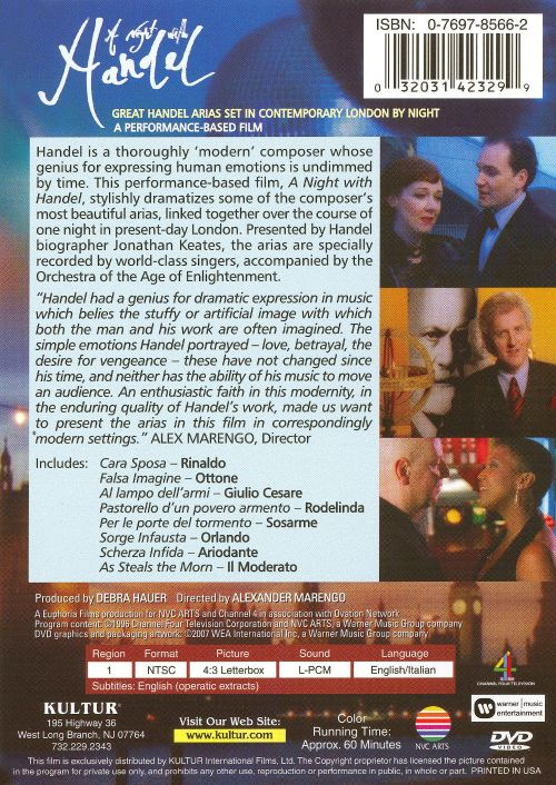 A Night with Handel [DVD Video]