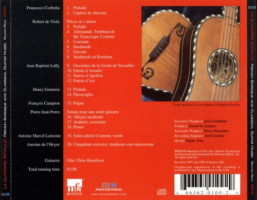 La Guitarre Royalle: French Baroque and Classical Guitar Music
