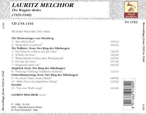 Lauritz Melchior: The Wagner Roles, 1929-1940, CD 2